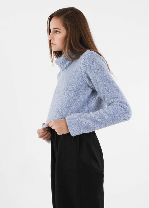 Carleen Powder Funnel Neck Sweater