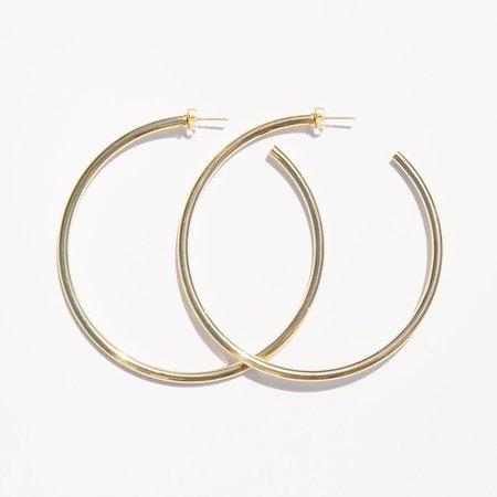 Laura Lombardi Brass Classic Hoop Earring