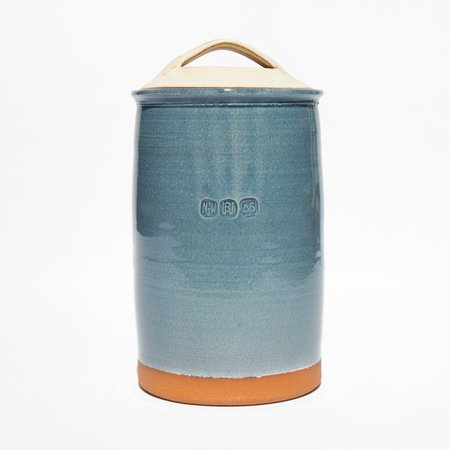 New York Stoneware French Canister - Blue
