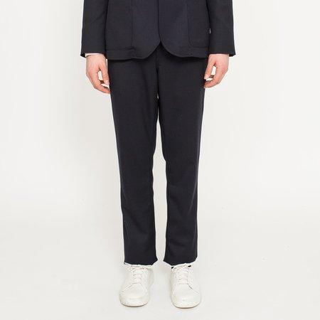 Corridor Navy Twill Wool Travel Trousers