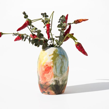 Shino Takeda Ceramic Painted Ceramic Vase