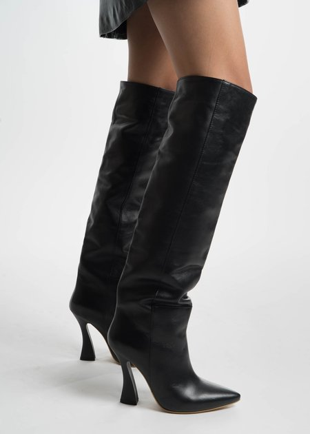 Situationist Black High Boots