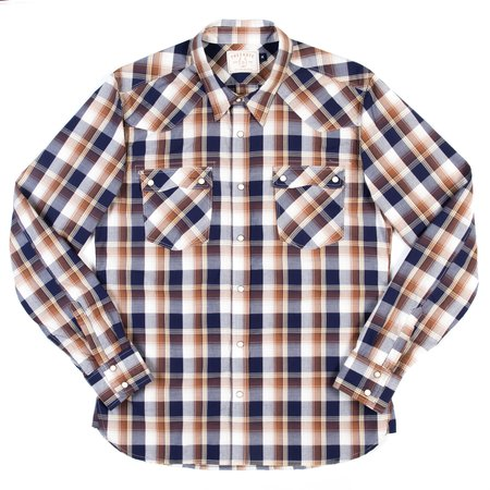 Freenote Cloth Modern Western Shirt—Tan Plaid