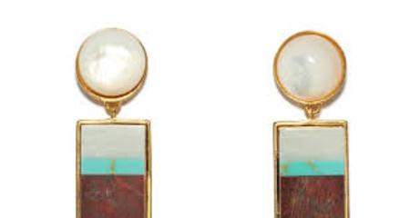 Lizzie Fortunato Regal Column Earrings in Jasper