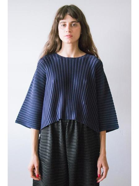Issey Miyake Arare Square Pleat Top