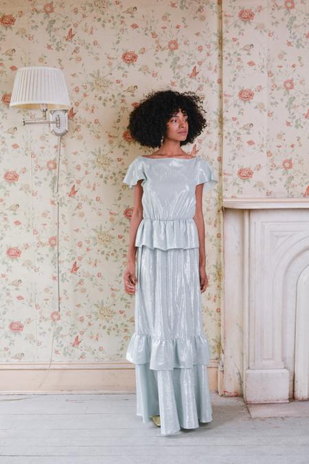 Aurora Vestita Susanna Peplum Shimmer Dress