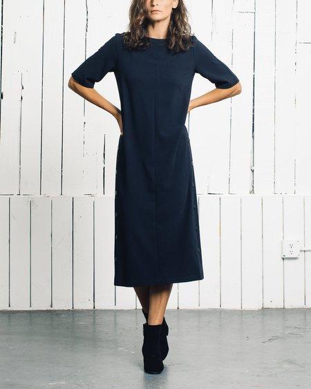 Wolcott : Takemoto Hamlet Dress - Navy