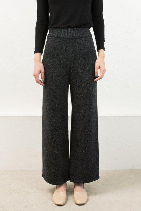 Micaela Greg Speckle Black A-Line Pant