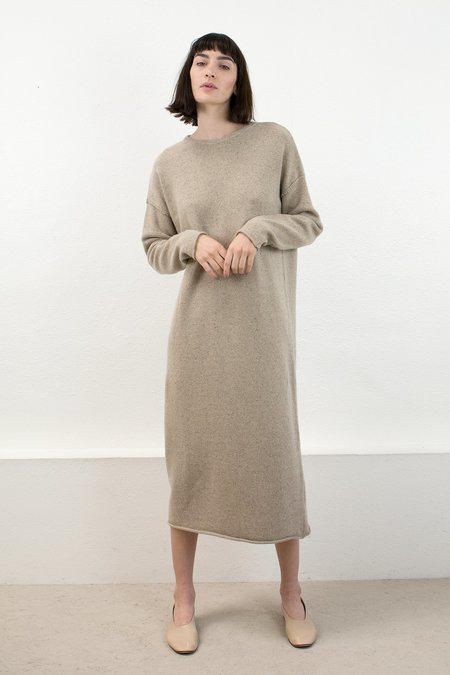 Micaela Greg Speckle Camel Sweater Dress
