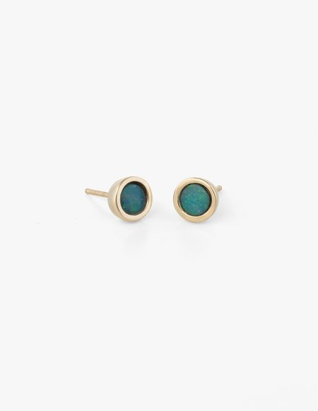 Dream Collective Big Dot Studs in Blue Opal
