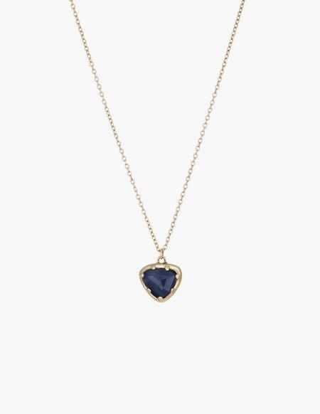 Kathryn Bentley Sapphire Organic Amulet Necklace