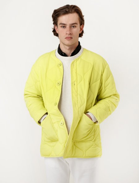 Our Legacy Mens Quilted Liner Citron Nylon