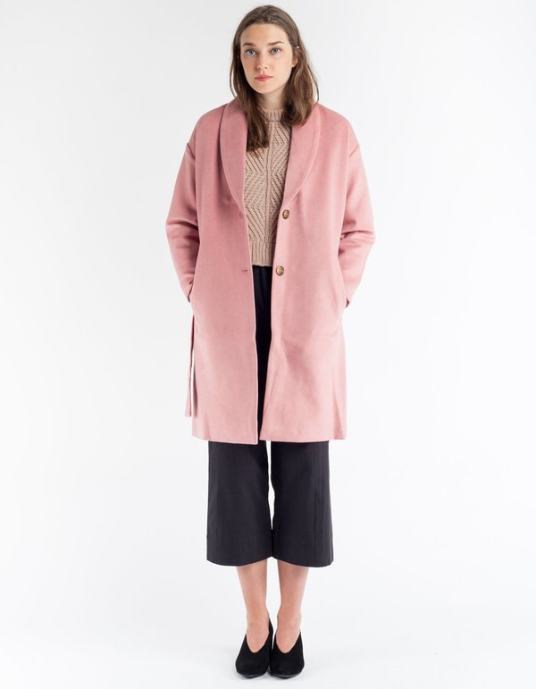 Selfhood Wool Coat - Pink