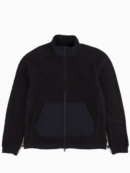 Reigning Champ Shearling Fleece Trail Jacket  - Black