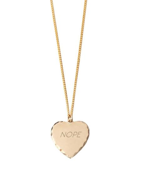 In God We Trust Nope Sweet Nothing Necklace - Brass