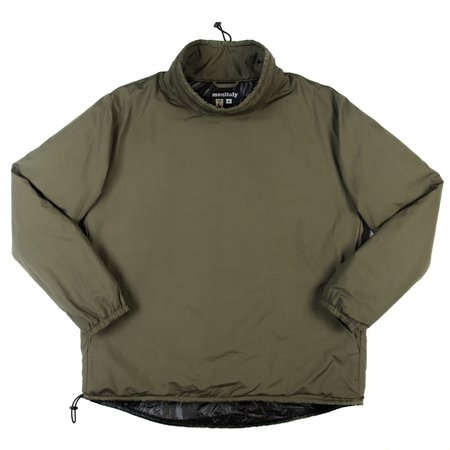 Monitaly Insulated Mock Neck Pullover - Olive Poplin Vancloth
