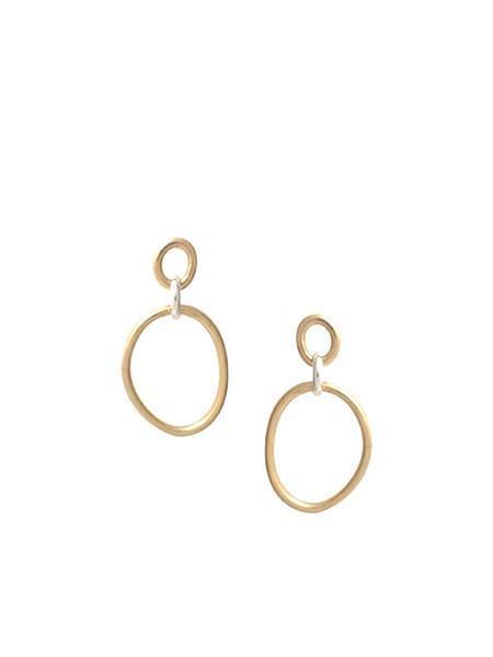 In God We Trust Cory deux earrings - brass