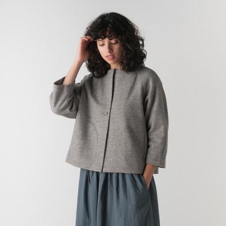 EVAM EVA Press Wool Short Coat in Mocha