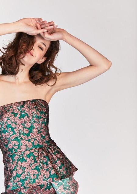 Tara Jarmon Strapless Jacquard Mini Dress