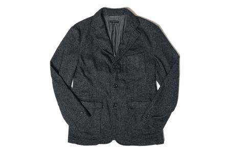 Engineered Garments Baker Jacket - Charcoal Wool Homespun