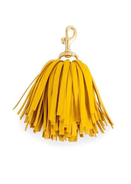 Clare V. Pom-Pom Tassel - Yellow Nappa