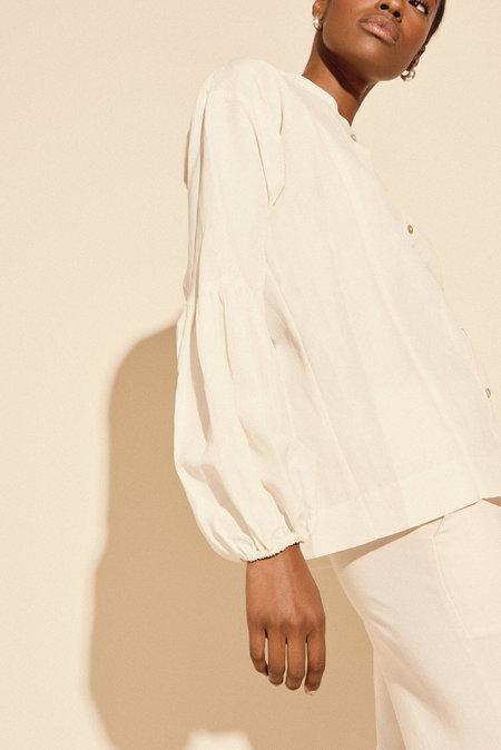 Kamperett Ferou Silk Linen Top - Ivory