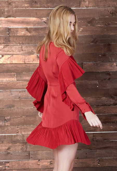 Cosette Clothing Bryce pleated ruffle dress