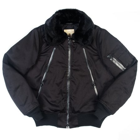Monitaly B-15 Jacket - Black Sateen Vancloth