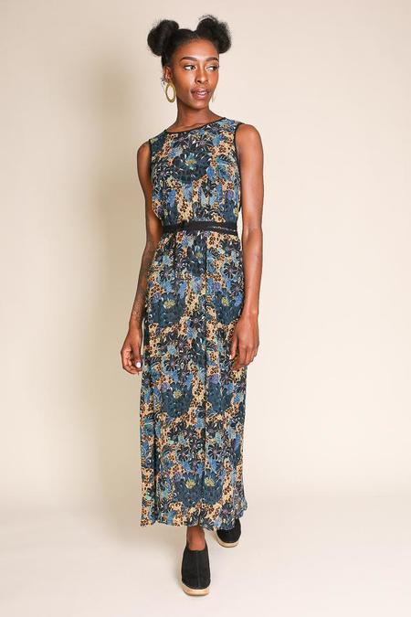 Raquel Allegra Sleeveless Maxi Dress in Black Dahlia