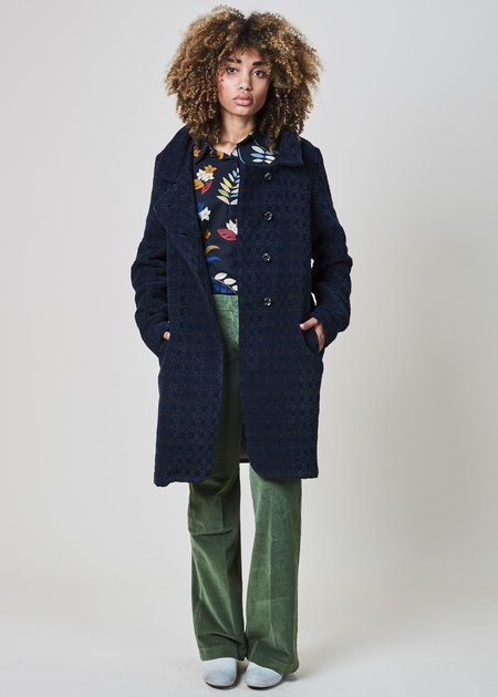 Echappees Belles Coco Textured Pattern Coat