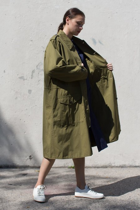 Chimala Norwegian Army Coat in Khaki Green