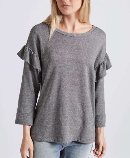 Current/Elliott Ruffle Sweatshirt