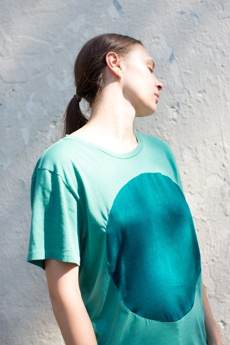Correll Correll Velvet Circle Tee in Turquoise