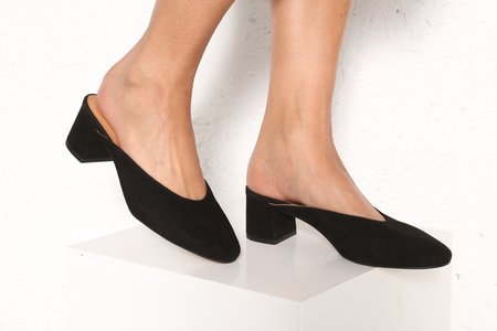 """""""INTENTIONALLY __________."""" Daisy Black Suede"""