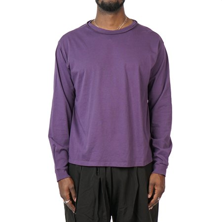 MR. COMPLETELY LONG SLEEVE NO POCKET TEE - EGGPLANT