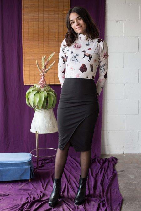 Eve Gravel Mahogany Skirt -Ebony