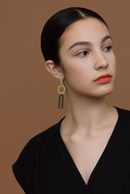 Natalie Joy Divided Line Earrings
