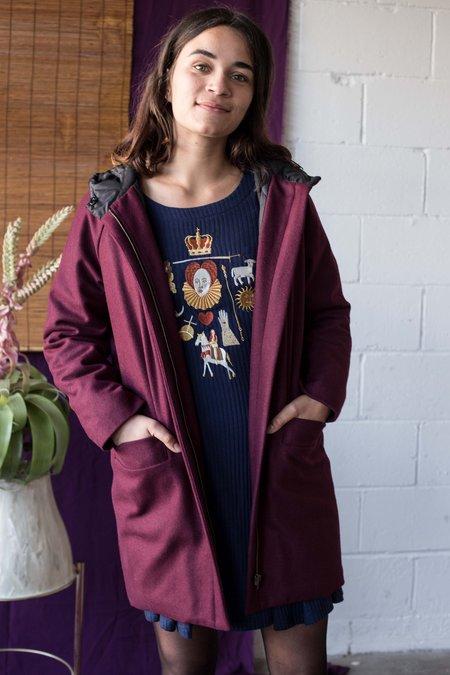 Valérie Dumaine Paden Coat - Wine Wool