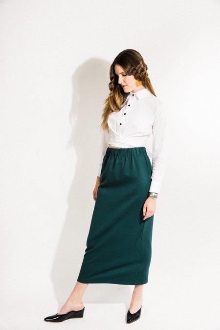 Beth Porch Skirt - Green Ponte
