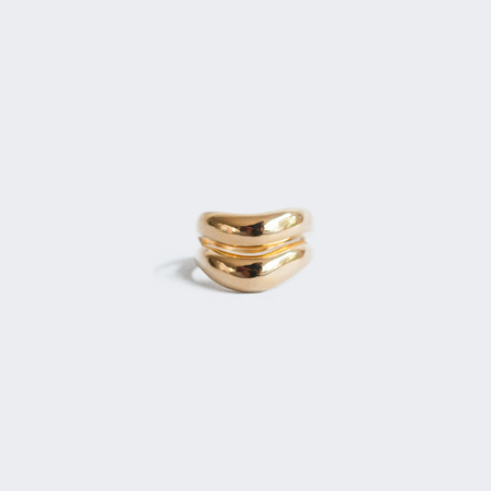 AGMES Double Wave Ring