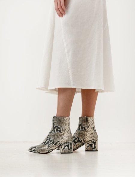 Robert Clergerie Moots Snakeskin Boots