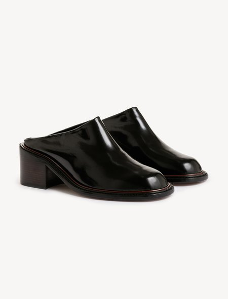 Robert Clergerie Sarai Block Heeled Mule - Black