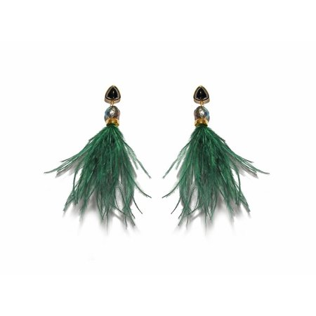 Lizzie Fortunato Parker Earrings in Dark Green