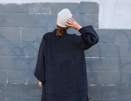 Mature Hat Knit Felt - Light Grey & Olive