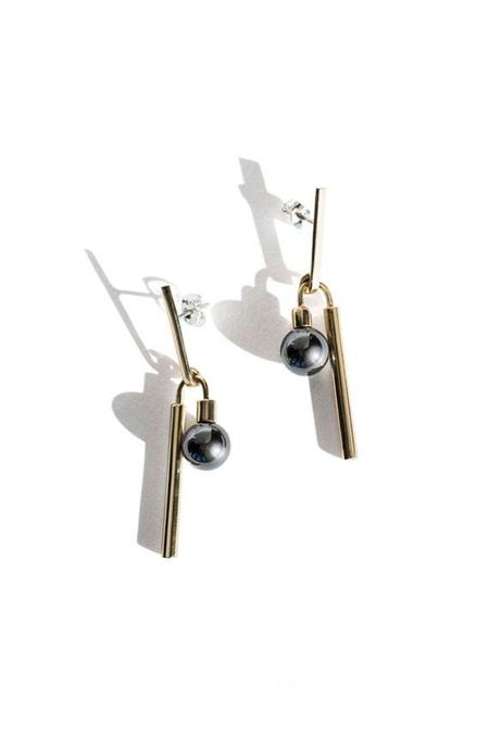 Quarry Adelaide Earrings- Hematite
