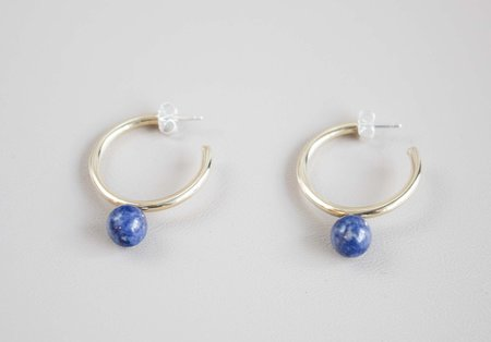 Quarry Large Asha Hoops - Sodalite