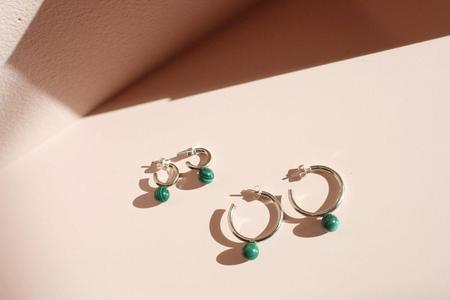Quarry Small Asha Hoops - Malachite