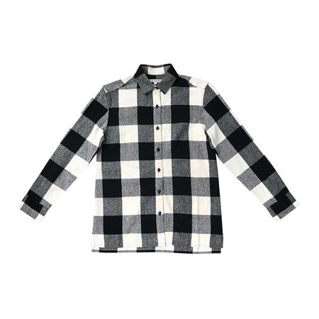 Ali Golden Button-down Shirt - Black Plaid