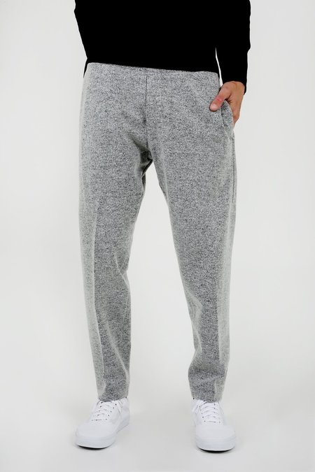 Wings + Horns Knit Wool Officer Pant - Grey