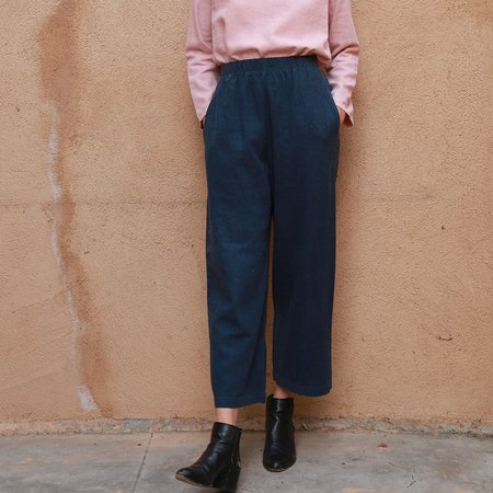 Me & Arrow Wide Pants - Navy Blue